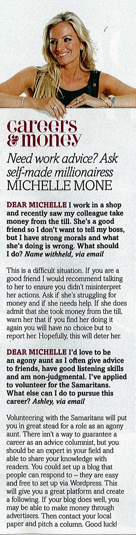 FabulousMagazineMichelleMone-Sunday2ndSeptember2012