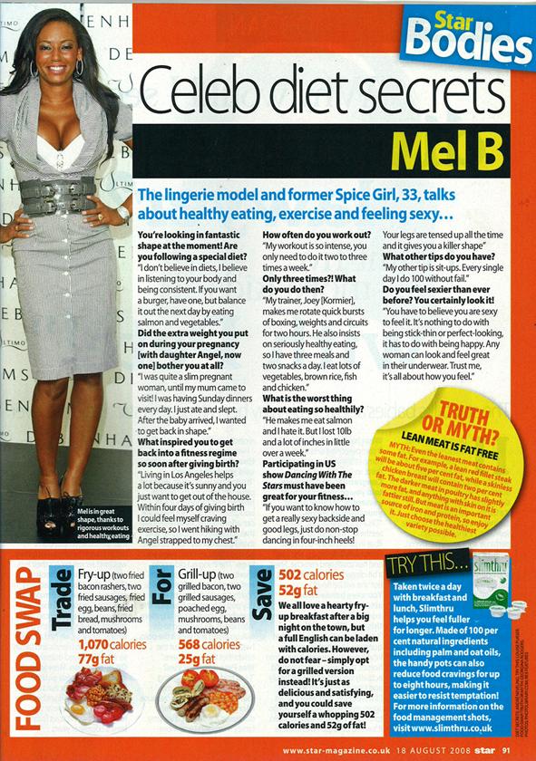 MelB_DietInterview_StarMagazine