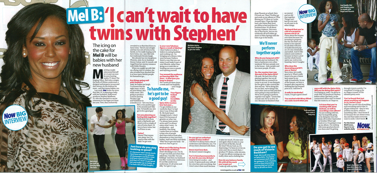 MelB_interview_NowMagazine