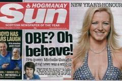 The-Sun_Michelle-Mone-OBE-Thu31stDec09front
