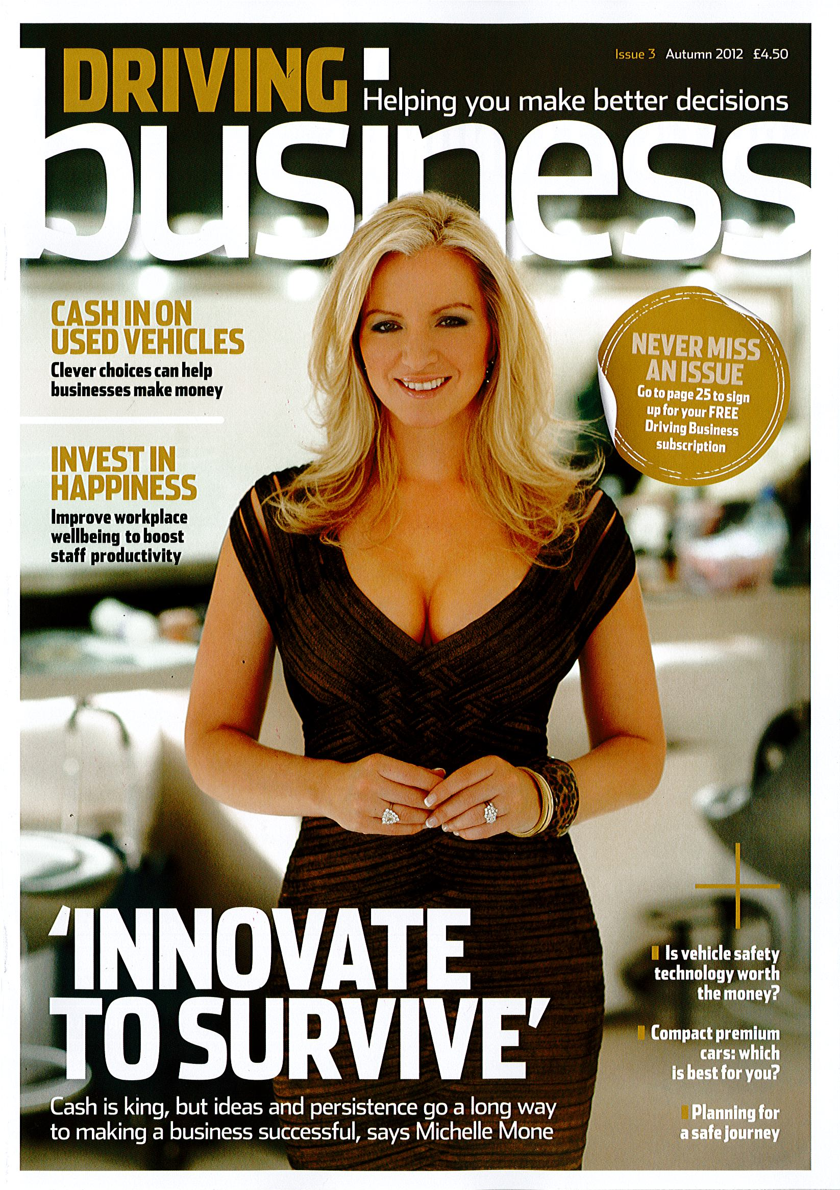 Driving-Business-Magazine-Michelle-Mone-Monday29thOctober2012-Front-Cover